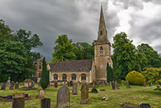 Photo of old churchyard